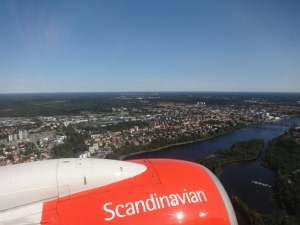 Landeanflug auf Umeå.
